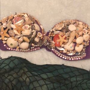 Intimates & Sleepwear - Custom made Mermaid costume 34b bra tail small